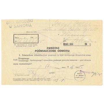 Szczawne (Sanok) - stempel prowizoryczny 1945 r.