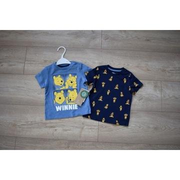 Dwupak koszulki kubuś puchatek C&A r. 80/86