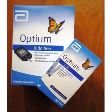 Nowy glukometr Optium Xido Neo + 50 pasków