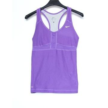 Koszulka sportowa ze stanikiem Nike Dri-Fit S fiol