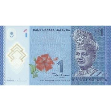 Malezja 1 ringgit Używany Polimer banknot
