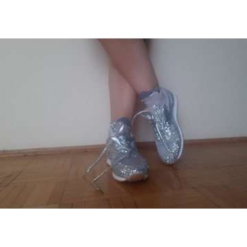 Buty sportowe błyszczące bling bling