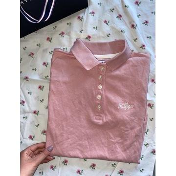 Różowa koszulka polo Tommy Hilfiger klasyczna