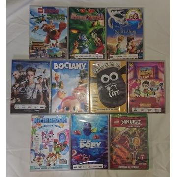 Zestaw 10 bajek dvd dla dzieci