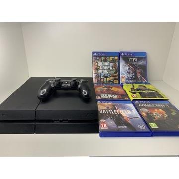 PlayStation 4, 1Tb, pad, gry, stacja ładująca