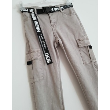 spodnie Suzi szare rozmiar S bojówki