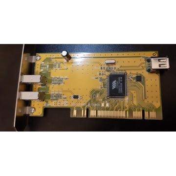 Kontroler firewire IEEE1394 PCI VIA VT6306