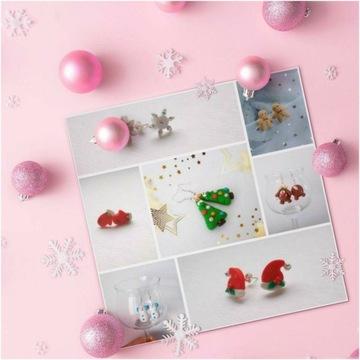 Kolczyki świąteczne różne wzory