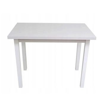 Stół Torpeda GRUBY BLAT 120x68x32 Biały Mat