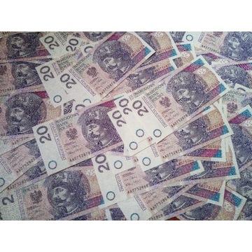 Banknot 20 zł.seria AA 075...z 2012 r.