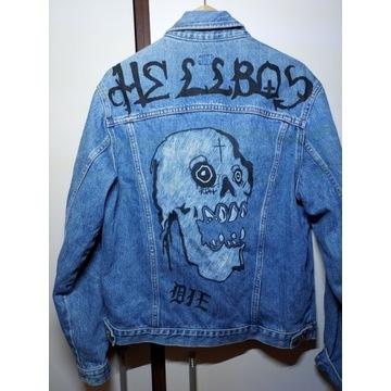 Kurtka katana jeansowa lil peep hellboy die