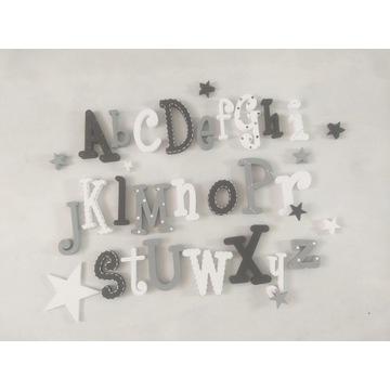 Alfabet na ścianę  litery 3d abecadło