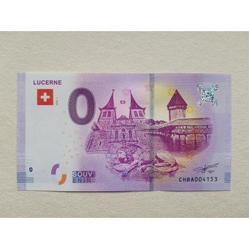 0 Euro - Lucerne - Szwajcaria - 2018