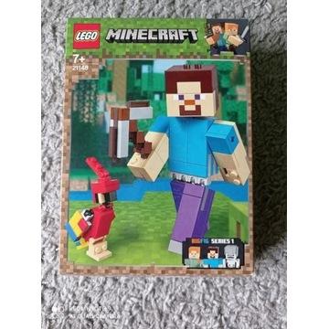 Lego Minecraft Big Steave z papugą 21148