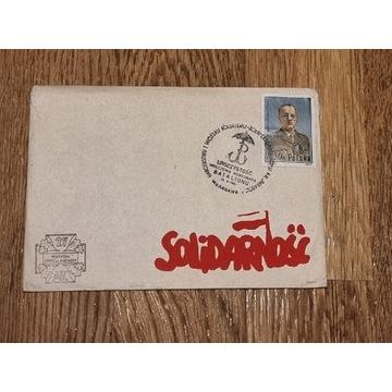 Koperta i znaczek Solidarność Batalion Parasol PRL