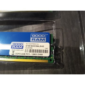 Pamięć GoodRam Play, DDR3, 4 GB, 1600MHz, CL9