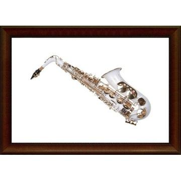 Saksofon altowy alt K.Glaser biały M205