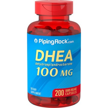DHEA 100 mg 200 kapsułek, USA, PIPING ROCK