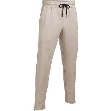 Spodnie dresowe Under Armour Ali Knit beżowe 2XL