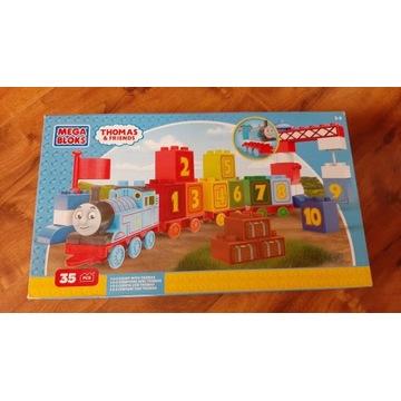 Tomek i przyjaciele Mega Bloks kolorowy pociąg