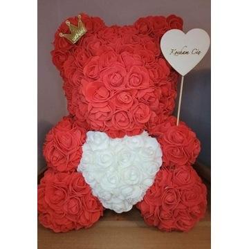 Miś z róż, rose bear 40 cm, zaręczyny, kocham Cię
