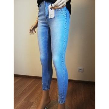 Spodnie HIGH WAIST PushUp-rozmiar 42  -wysoki stan