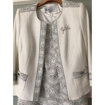 Elegancka garsonka Kati Studio suknia/żakiet 42