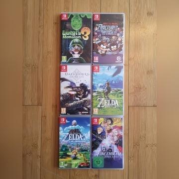 Zelda, Fire emblem, Luigi's Mansion + inne switch