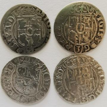 Półtoraki szt.4  Bydgoszcz 1622,1623,1624,1625 Ag