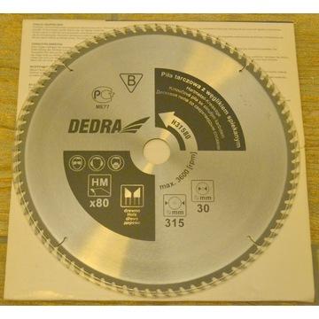 piła tarczowa DEDRA 315x30 80z z węglikiem