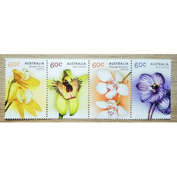 2014, Australia Mi 3901-04 **, flora, orchidea