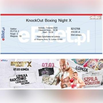 Bilety na galę boksu Łomża Szpilka