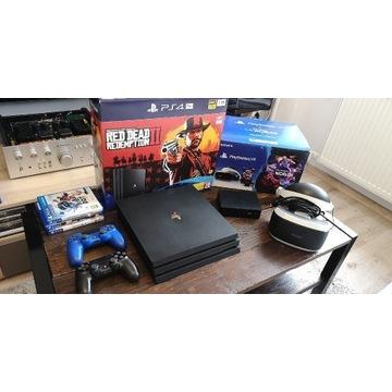 Sony PlayStation ps4 pro 1tb VR v2 2 pady gry