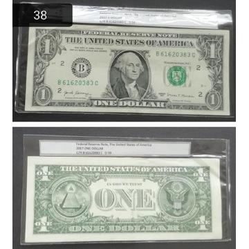 Banknot 1 DOLAR USA 2017 (38)