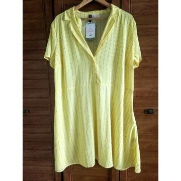 Nowa żółta sukienka H&M+ Szmizjerka to all the boy
