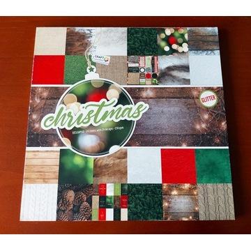 Blok papierów świątecznych do scrapbookingu-30x30