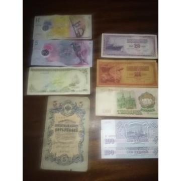 Zestaw banknotow