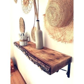 Drewniana półka sosnowa loft  rustykalna