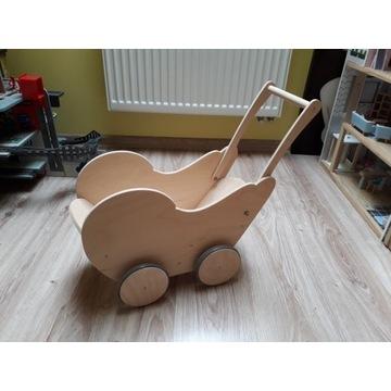 Wózek drewniany dla lalek dziecka eko