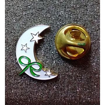 Przypinka, badges; książyc.