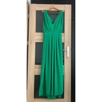 Długa sukienka ASOS 42 zielona