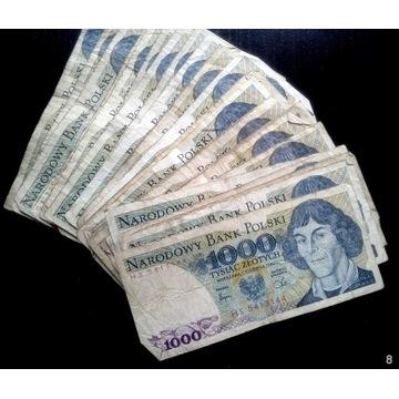 Banknoty PRL 31 szt.   1000 zł