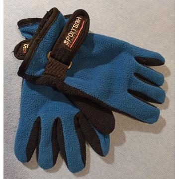 rękawiczki dziecięce zimowe podwójny polar