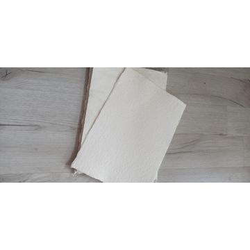 Papier czerpany biały A4