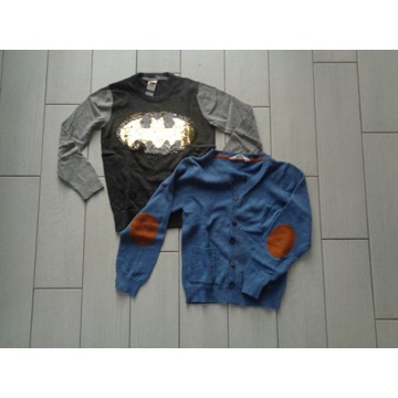 H&M i C&A zestaw sweter 134 Batman