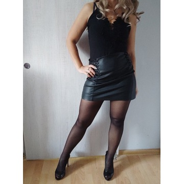 Rajstopy czarne używane dla fetyszysty