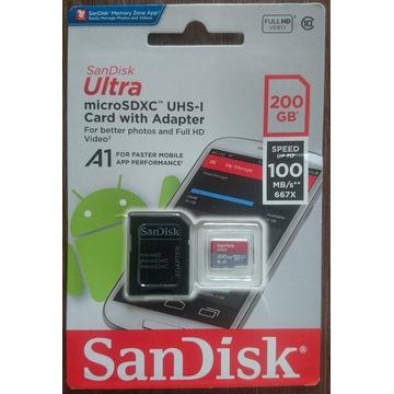 SanDisk Ultra microSDXC 200GB 100MBs