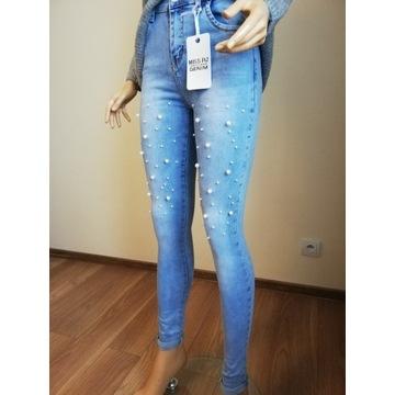 Spodnie jeansowe MISS RJ-rozmiar XL/42-wysoki stan