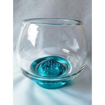 Piękny solidny wazon kula prl vintage