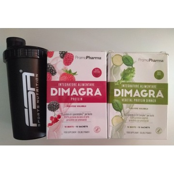 DIMAGRA 2x proteiny suplement diety + shaker FSA